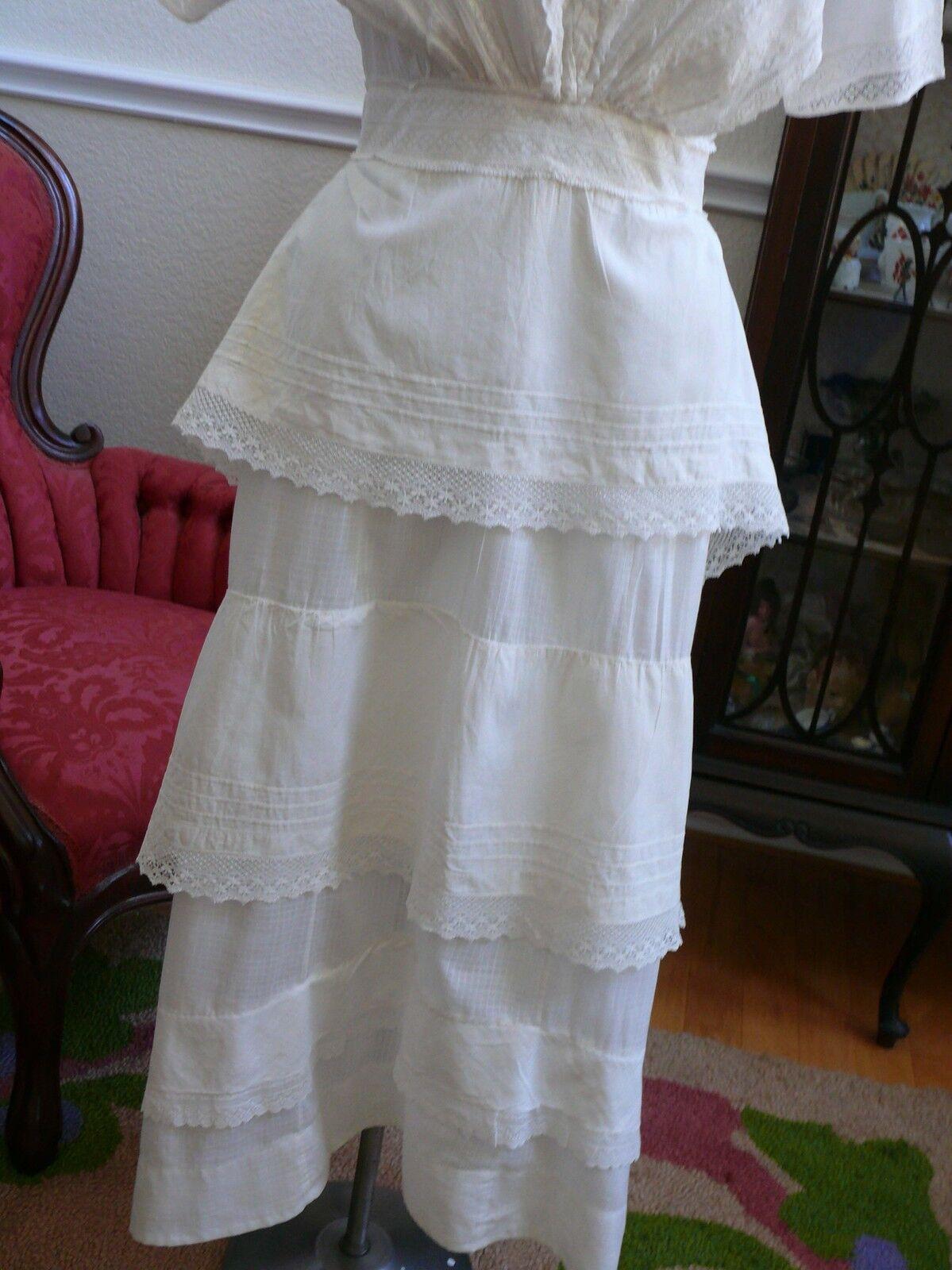 1910`s Edwardian White Dress Titanic Style Unusua… - image 4