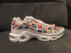 9e573e813c Mens Nike Air Max Plus NIC FIFA World Cup Flag Pack AO5117-100 Size ...