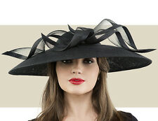 NWT AUTH PHILIP TREACY BLACK SWEEPING DOME WEDDING HAT OR MELBOURNE CUP HAT