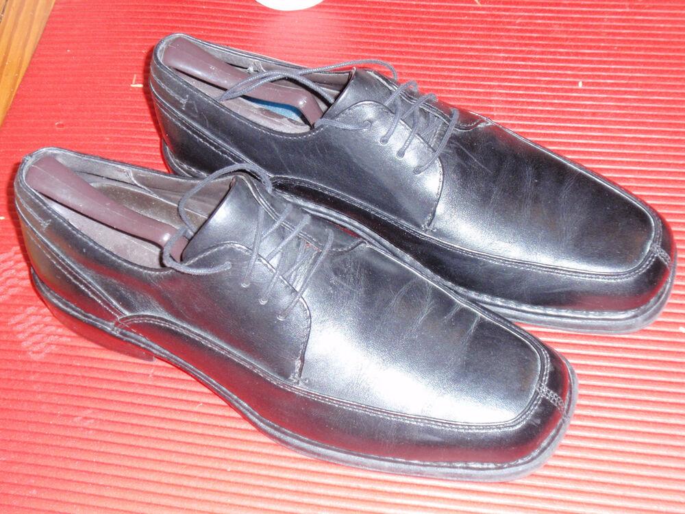 1 Paire De Cuir Pour Hommes Nunn Buisson Chaussures Noires Size 11