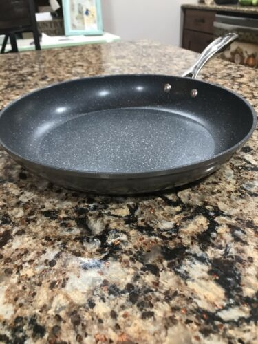 """Curtis Stone 12"""" Frying Pan Beige//Gray New But No Box Or Lid"""
