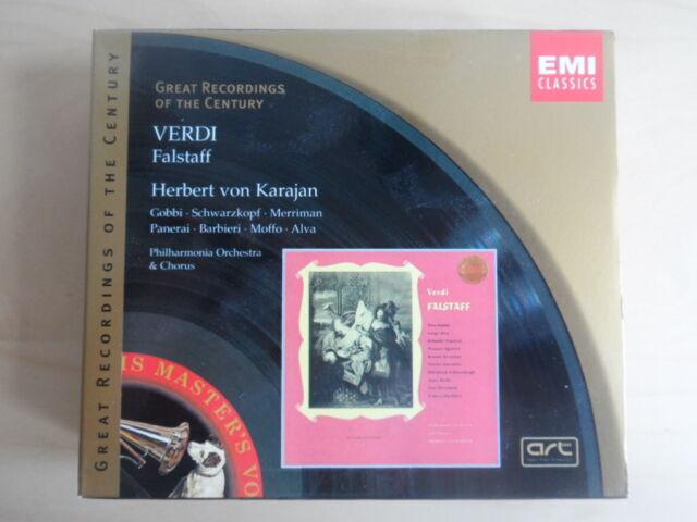 Falstaff-Gobbi, Alva, Schwarzkopf, Moffo, Panerai u.a.-Karajan-2er Emi CD Box