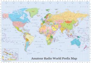 Amateur radio world prefix map large ebay caricamento dellimmagine in corso radio amatoriale mappa del mondo prefisso 034 large gumiabroncs Images
