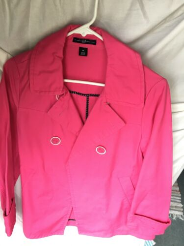 Gap womens pink trench coat size xs