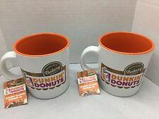 Dunkin Doughnuts Ground Coffee Bakery Series Mug Cup w/Tags 12 Oz Lot of 2