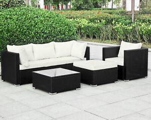 Details Zu Rattan Polyrattan Gartenmöbel Lounge Sitzgruppe Garnitur 4 Sitze Hocker Tisch