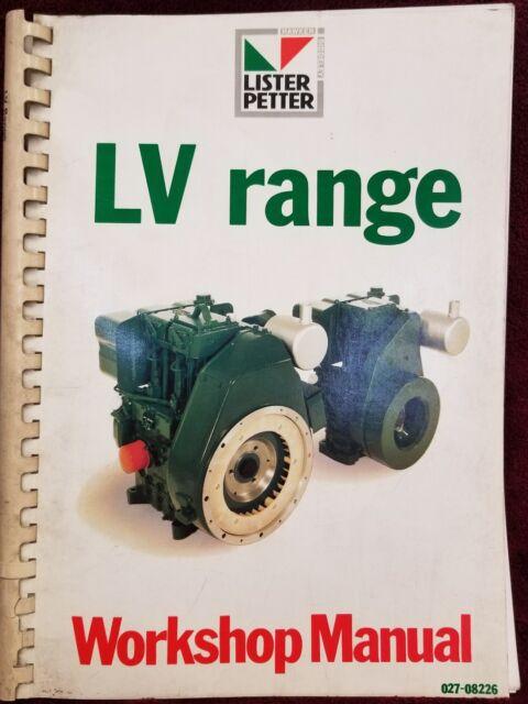 Lister Petter  Diesel Engine  Lv Range 1  U0026 2 Engine
