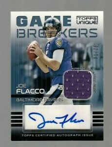Joe-Flacco-2008-Topps-Unique-Game-Breakers-ROOKIE-AUTOGRAPH-amp-Game-Jersey-01-25