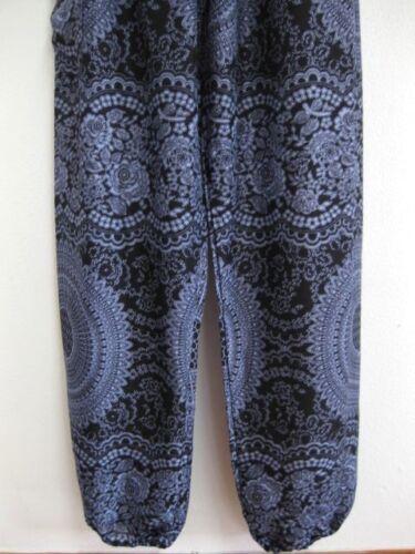 Smock Harem Baggy Pants Bohemian Boho Hippie Aladdin Yoga Genie Trousers HRPC-BL
