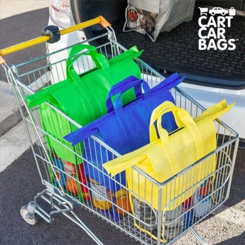 4 Stück Kofferraum Einkaufstasche Tasche Kofferraumorganizer Einkaufswagentasche