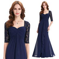 Mother of the Bride Long Bridesmaid Dress Evening Formal Party Wedding Maxi Gown