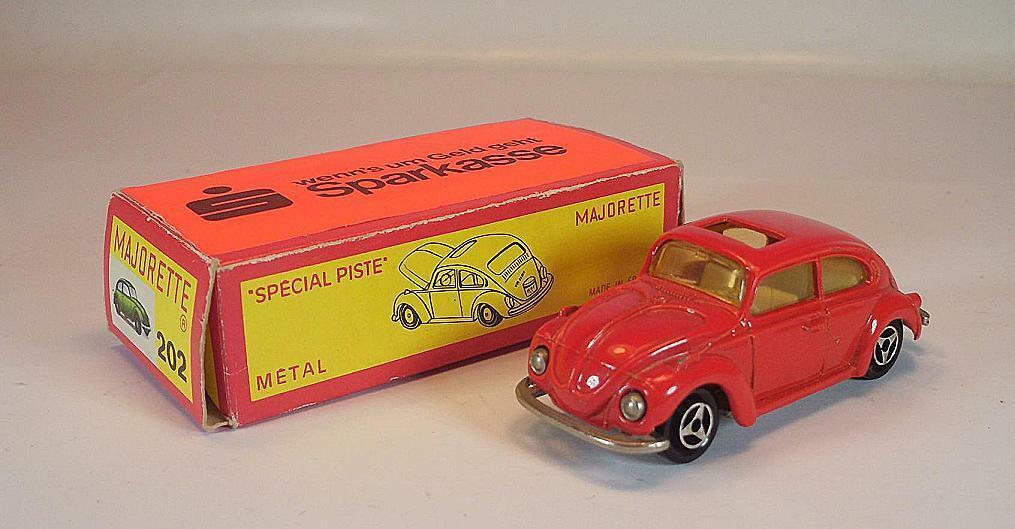 Majorette 1 60 no 202 203 VW Volkswagen 1302 Beetle Beetle Sparkasse OVP