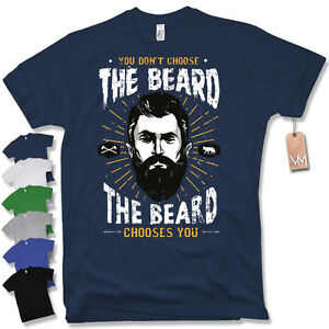 T-Shirt THE BEARD CHOOSES YOU Retro Vintage Moustache Bart Fun Gr. S M L XL XXL