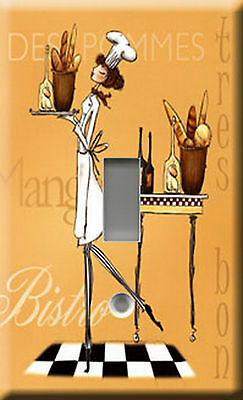 Single Light Switch Plate Cover - Sassy Chef 4