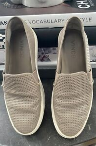 VINCE Blair Perforated Leather Slip On