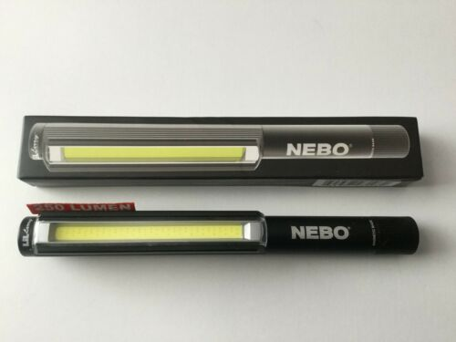 New in Box Nebo Little Lil Larry S//N Flash DEL lumière clip /& Base magnétique noir 6373 6464