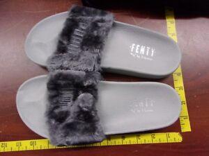 half off e48de d855a Details about Puma x Rihanna Fenty Fur Slide Women Ladies Sandal Gray