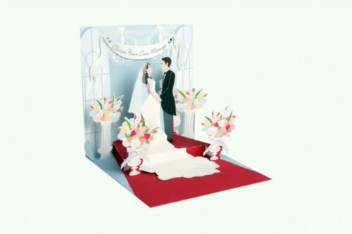 Pop Up 3D Hochzeit Grußkarte PopShot Brautpaar Glückwunsch 13x13cm