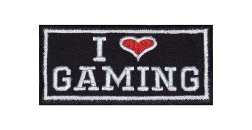 I Love Gaming ricamate Heavy Biker Rocker PATCH RICAMATE STAFFA immagine tonaca BADGE