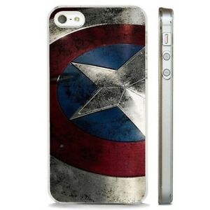 Details about Captain America Avengers Sheild CLEAR PHONE CASE COVER fits iPHONE 5 6 7 8 X