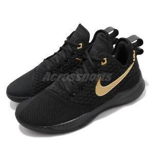 Nike LeBron Witness III EP 3 James LBJ Black Gold Men Basketball ... 02d75a896