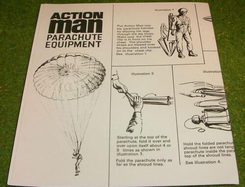 Vintage Action Man 40th manuel notice Parachute Equipment