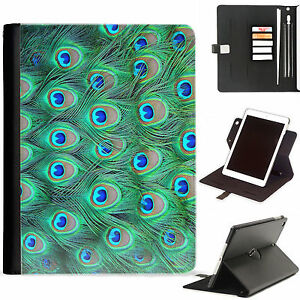 Peacock-Feathers-Luxury-Apple-ipad-360-swivel-i-pad-leather-case-cover-with-card