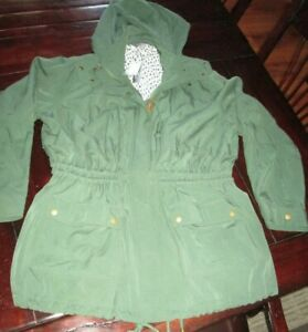 f3af50ebe Details about Women's Olive Or Army Green Anorak Jacket Size 3 XL Market &  Spruce NWT