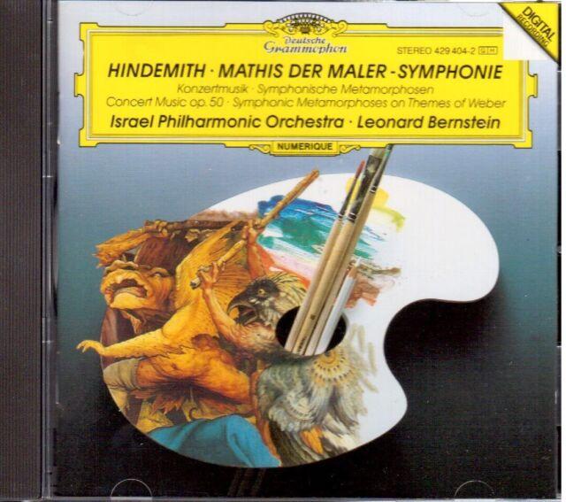 Hindemith: Mathis Der Maler Symphonie auf Weber, Konzertmusik / Bernstein - CD