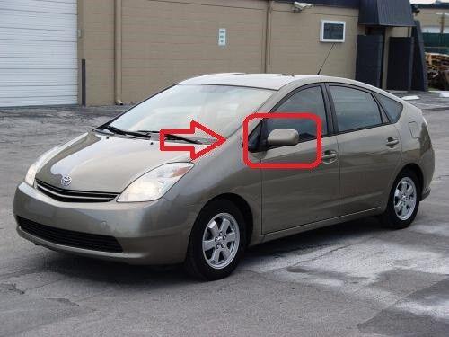 Nuevo Toyota Prius NHW20 03-09 Gris Ala Exterior Espejo Calefacción Eléctrica Izquierda N//S