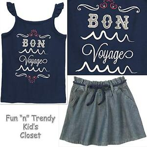 158f0c1e5 Details about NWT Gymboree PARISIAN AFTERNOON Girls Size 7 or 8 Skirt   Tank  Top Shirt OUTFIT