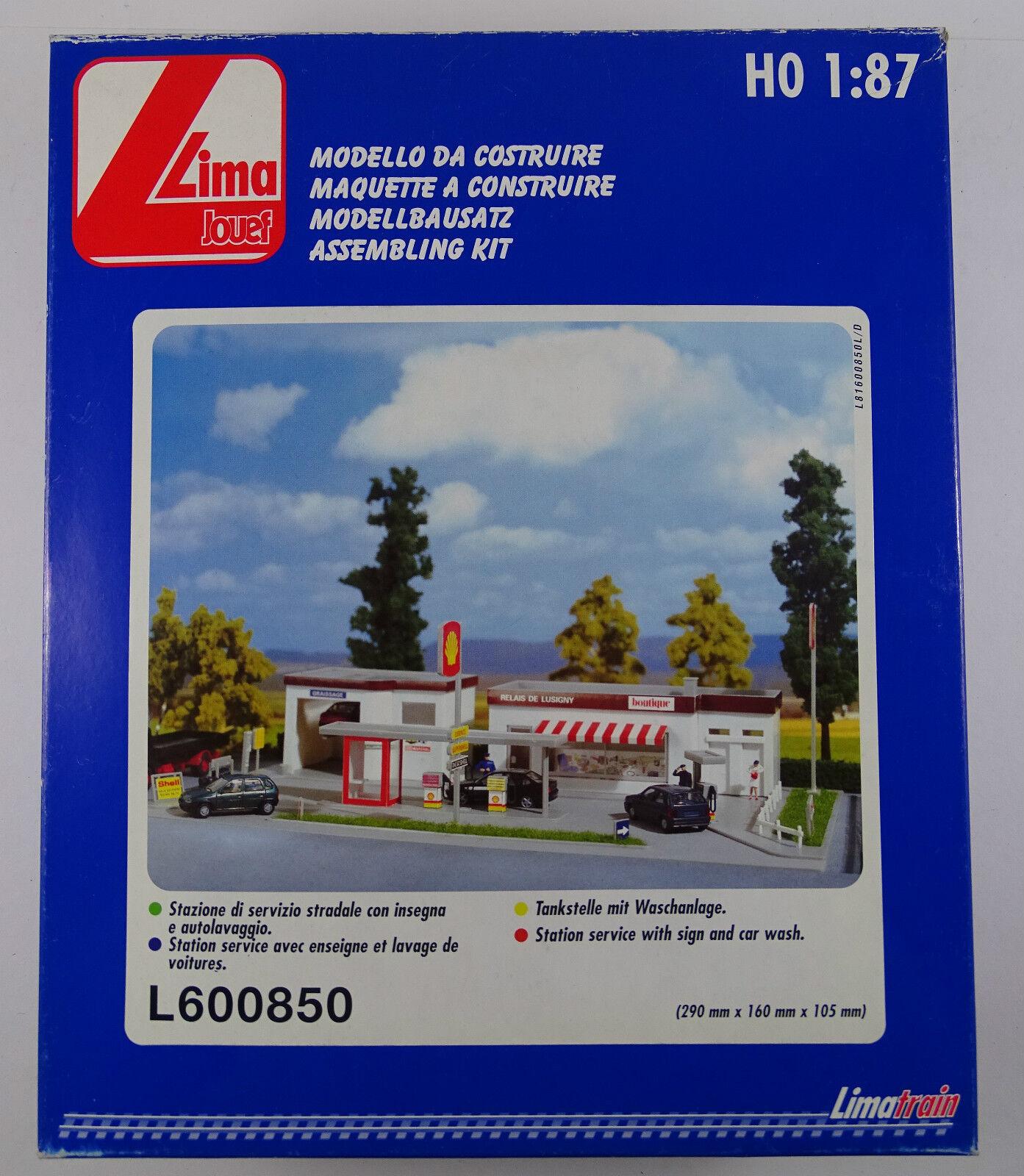Jouef Lima 600850 Tankstelle Gas Station Station Service Modellbausatz neu OVP