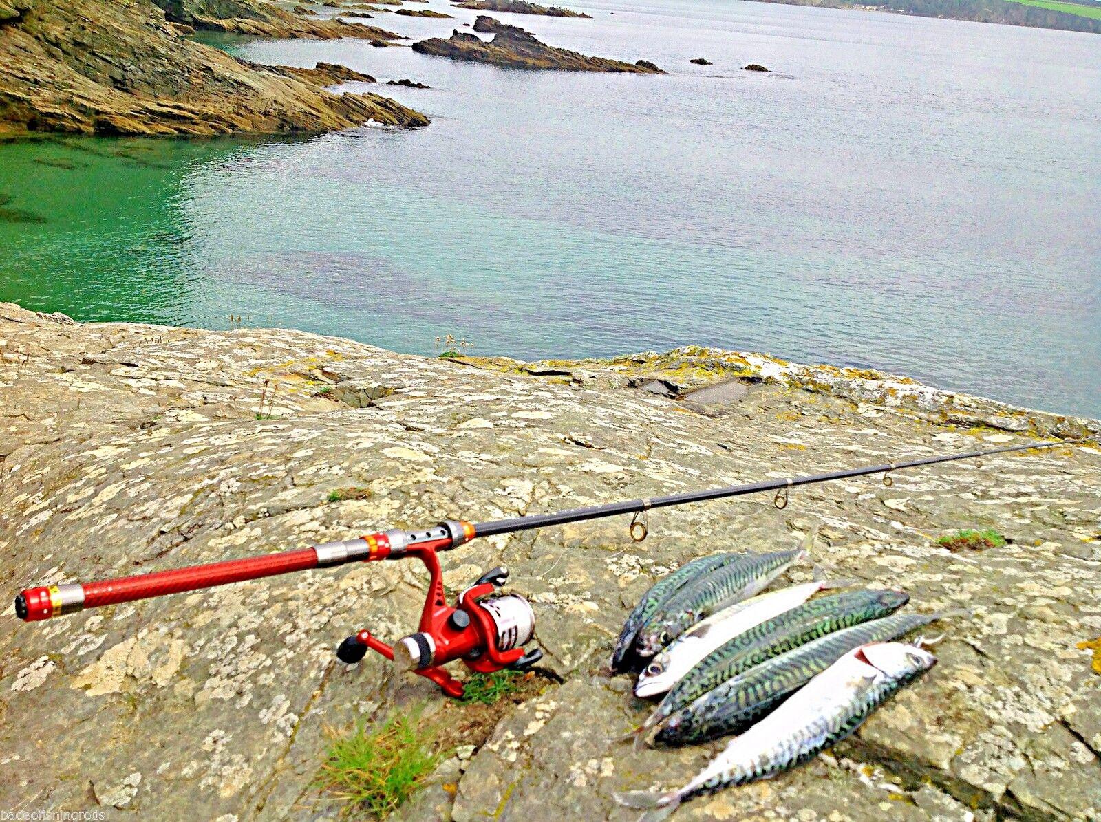 Telescopic  Fishing Rod 2.1 m   FREE REEL   FREE POSTAGE   LURE   SPINNING