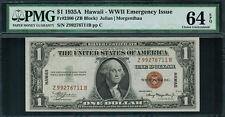 1935A $1 Hawaii WWII Emergency Issue FR-2300 Z-B Block - Graded PMG 64 EPQ