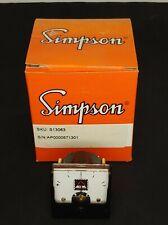 Vintage Simpson Electric Dc Meter Gauge Milliamperes Model S13063