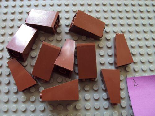 Lego ~ Mixed Lot Of BROWN Castle Brick Slope//Sloped Bricks #xczfe