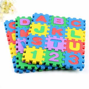 Puzzle Mousse Lettre Chiffre Éducatif 36 Pièces Enfant Bloc Alphabet Numéro neuf