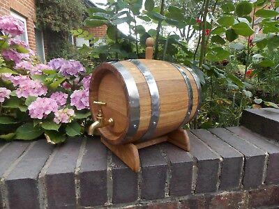 Contemplative New Oak Barrels,wine Barrels,whiskey Barrels,solid Oak Barrel 3l,5l,10l,15l-40l Cheapest Price From Our Site Bar Tools & Accessories Home & Garden