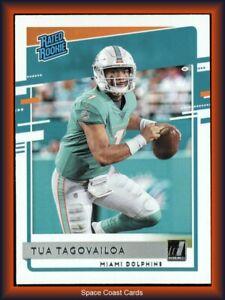 Tua Tagovailoa Rated Rookie 2020 Donruss #302 RC Miami Dolphins Card