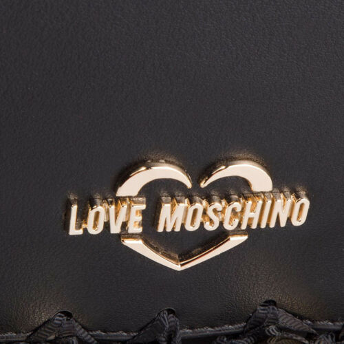 Leather Gold Newt Auth 100 monedero Love Correa Black W bolso Moschino CHwF1wXxnq
