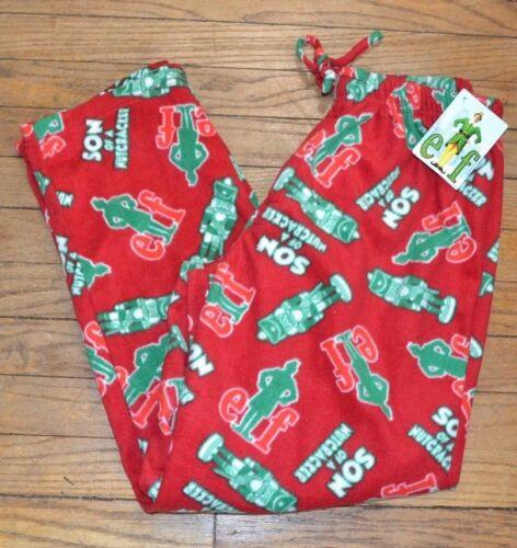 Buddy the Elf SANTA SON OF A NUTCRACKER FLEECE LOUNGE PANTS PJ Bottoms