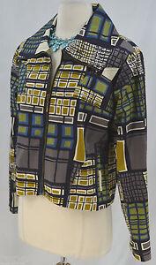 Patrick Blazer Abstrakt Coat S Sate Suit Christopher Jacket Bomuld Light Zip wIfIrq