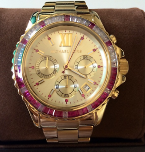 Michael-Kors-Glitz-Everest-Gold-tone-Watch-MK5871
