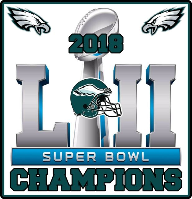 6dae51dba8b37 Philadelphia Eagles 2018 Super Bowl Champions Vinyl Decal Sticker 4
