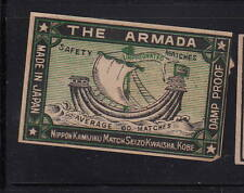 Ancienne   étiquette Allumettes Japon   AAA11266  Armada Drakar