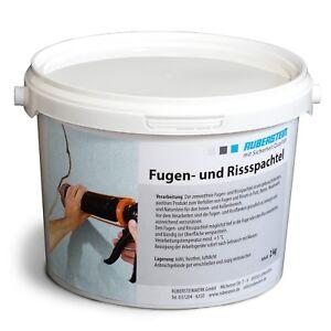 Orig. Ruberstein®  Rissspachtel steingrau, Mörtel für Riss, 2 kg im Eimer