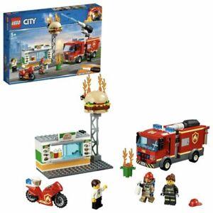 LEGO-CITY-Box-Set-60214-Burger-Bar-Fire-Rescue-327-Pieces-Age-5