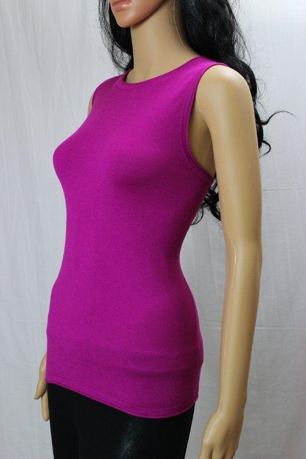 Lauren Ralph Lauren Sleeveless Silk Blend Magenta Top NWT