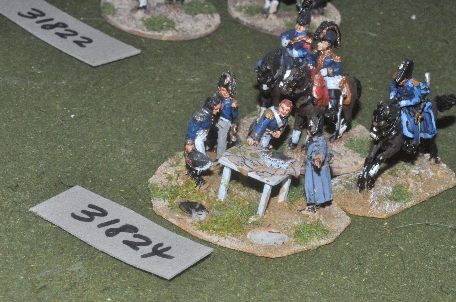 25mm napoleonic   french - napoleon & staff - command (31824)