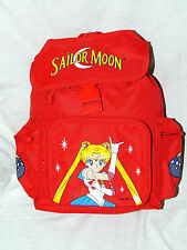 """NWT  *SAILOR MOON*  RED   CANVAS  BACKPACK  12"""" X 9"""" X 4 1/2"""" WITH SIDE POCKETS"""